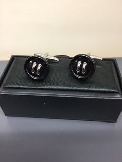 Parisian Black Buttons Cuff Links